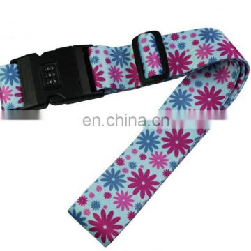 floral traveling luggage strap with buckle