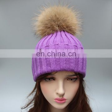 Winter crochet beanie hats knitting ladies hats for women wholesale China