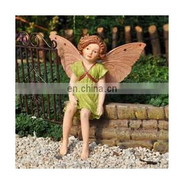 table decorative baby girl fairy , small boy fairy statue