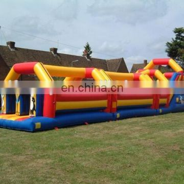 60ft Obstacle track inflatable assault course