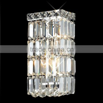 crystal wall mounted plug in lamp for bedroom reading