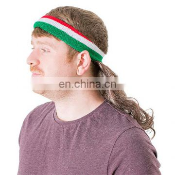 Factory direct sell 2018 new curly Mullet Headband mullet wig for sport events