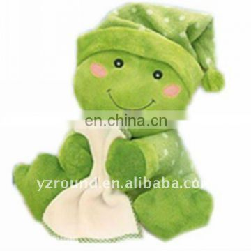 plush carrying blanket frog for baby