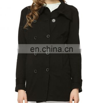 Beautiful long double breasted coat for women