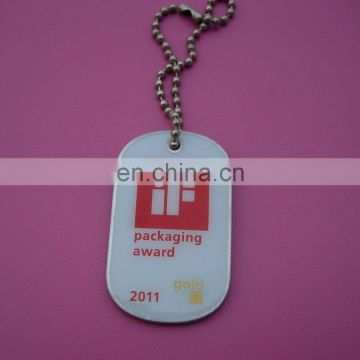 printing your own personalized logo human dog tag with necklace