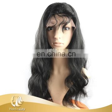 2017 Full Head Brazilian Human Hair Full Lace Wig With Adjustable Band Customized Acceptable hotbeauty