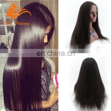 Best Super quality 130% density silky straight glueless full lace wig/ lace front wig 100% indian human hair wigs