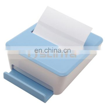 Colorful Mobile Phone Stents Sticky Note Box Removable Sticky Notes Box With Phone Stand