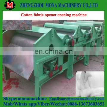 High quality and cheap price shag Cotton/denim/garment/cloth/rag waste recycle use fiber/fabric/textile opener/opening machine