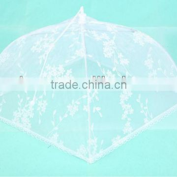 HIGH QUALITY folded food cover food umbrella with flower