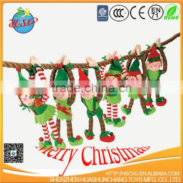 alibaba supplier factory price lovely design christmas decoration hanging elf plush