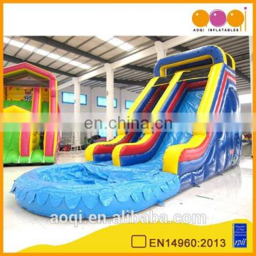 AOQI inflatable toy giant adult inflatable water slide used inflatable small pool water slide with EN14960 certification