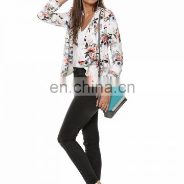 Beautiful floral waterfall printed blazer for women