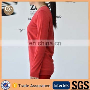 Women Deep V neck cashmere pullover