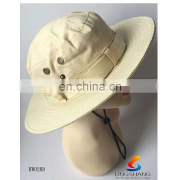 2016 Summer wide brim cotton foldable hats for outdoor activities