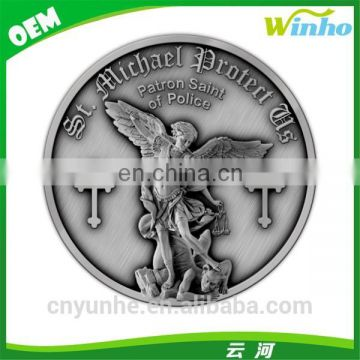 Winho nickle plated metal religious badge