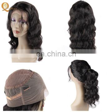 Best Short Wigs Black Women Indian Virgin Hair Body Wave Cheap Human 360 Lace Band Wig