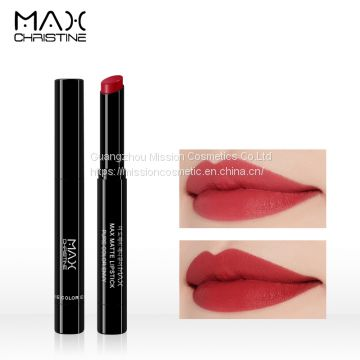Dark Red Lip stick Matte Slim Lipstick Beauty Cosmetics