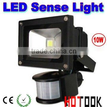 Black Sensor 10W LED Flood light Outdoor Floodlight Infrared motion sensor light 85V-265V CE RoHS