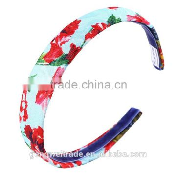 European Boutique Kids Hairband flower print headband girls hair accessories