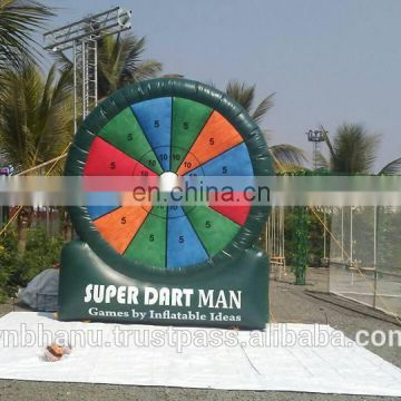 Good quality inflatable mega darts and inflatable dart board games for sale