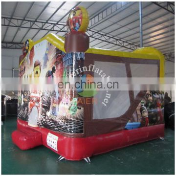 2016 new product special design round inflatable jumping bouncer
