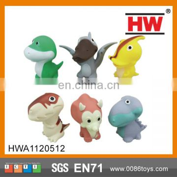 Vinyl & Soft Evade Glue Cartoon Dinosaur Plastic Animal Toys With BB Sound