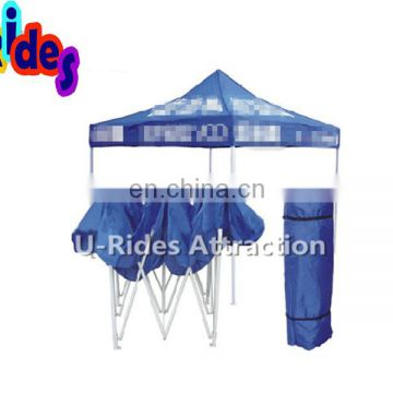Blue Color Ventilated Printing Wall Folding Tent For Advertising