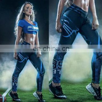 Women's New Design 2017 American Football Sports Leggings Pants