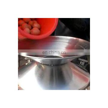 High capacity eggshell and egg fluid separator