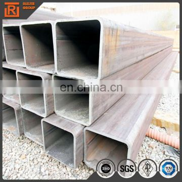 ASTM A53 black welded steel tubes, square structural tube 100x100
