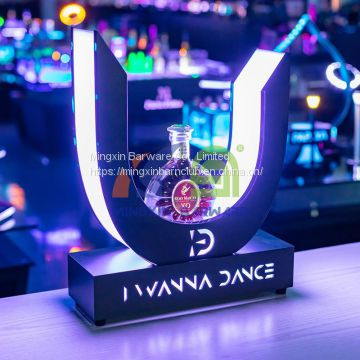 U Shape Bottle Glorifier  LED bottle presenter for nightclub