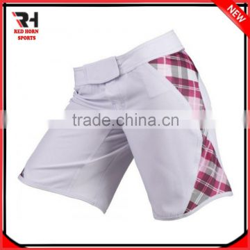 100% polyester (Imported Fabric) MMA Short with Knitted elastic belt