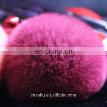 Rex rabbit fur pompoms for keychain fur bag charm