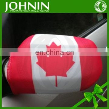 spandex polyester printed advertising national flag car mirror cover