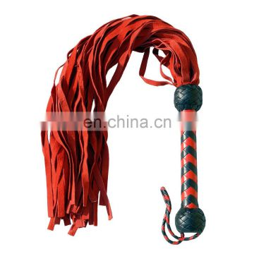 HMB-510B LEATHER FLOGGER SUEDE 36 TAILS SOFT BULLWHIPS MIX COLORS STYLE