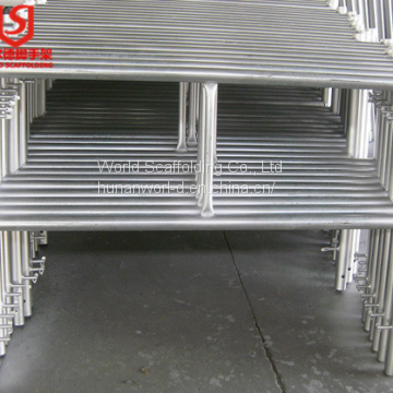 Frame scaffolding system hot dip galvanized Pre-galvanized scaffolding with walk board brace