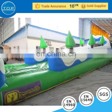 TOP INFLATABLES Professional water pool 1000 ft slip n inflatable slide the city with great price