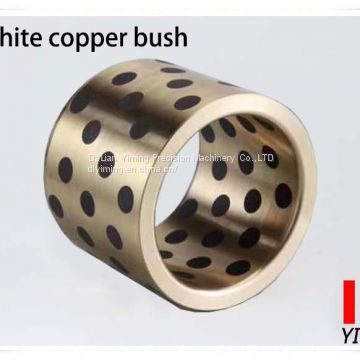 Self lubricating bearing, JDB copper oil-free bushing, solid inlaid  graphite bronze sleeve oilless bush