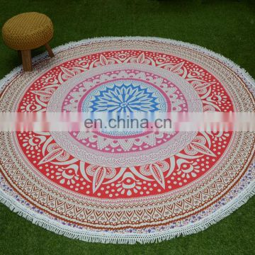 Wholesale Top Quality 100% Cotton Indian Handmade Hippie Bohemian Mandala Table Cloth