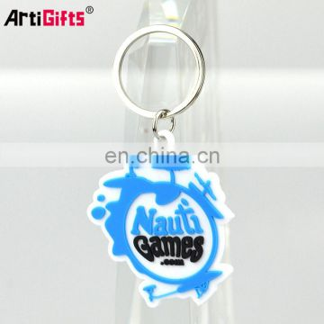 Key chian OEM custom made wholesale promotion cheap pvc rubber plastic keychain
