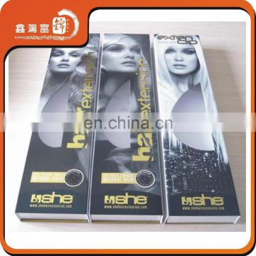 Custom Paper Gift Cardboard Box for Hair Extension Wigs Packaging Box