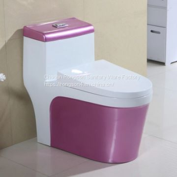 European style ceramics one piece colored toilet bathroom water closet