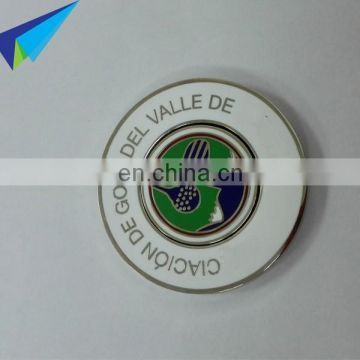 2017 magnetic 40mm golf logo ball marker in customized full color