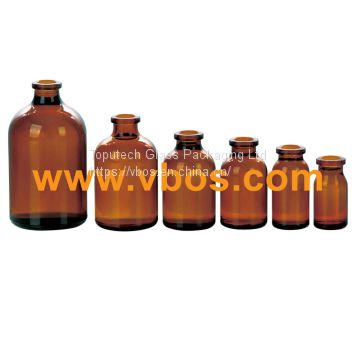 AMBER GLASS BOTTLES BOSTON ROUND