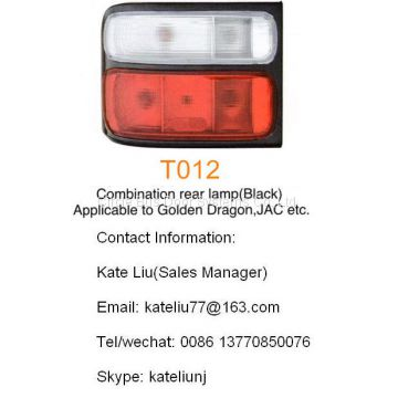 Toyota coaster combination rear lamp(Black),applicable to Golden Dragon,JAC,etc(T012)