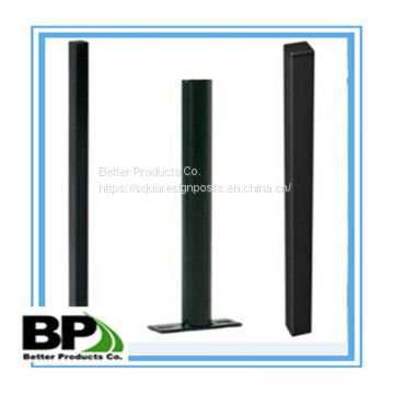 steel material green powder coated u channel sign posts