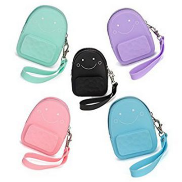 Silicone Phone Wallet Coin Purse Wallet Color Silicone Wallet