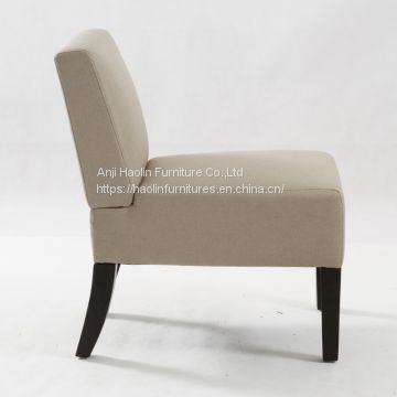 Fabric Upholstered Armless Accent Chair ,Single Leisure Chair for living room