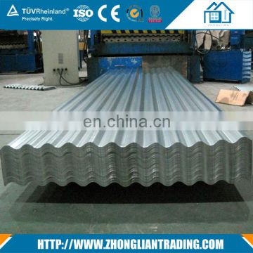 Cheap Price 24 gauge Aluzinc Ribbed Corrugated 0.45mm  roofing steel sheet